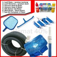 Paket Pembersih Kolam Renang | Vacuum Head | Vacuum Hose 9 Meter