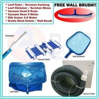 Paket Cleaner Set Alat Vacuum Pembersih Kolam | GRATIS Sikat | HEMAT !