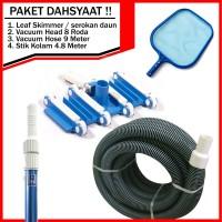Paket Pembersih Kolam Renang | Cleaner Set Alat Vacuum | Dahsyaat !!