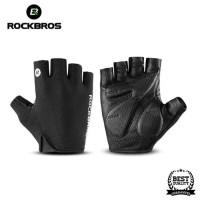 Sarung Tangan Sepeda RockBros Gloves Half Finger Gel Black Original