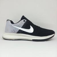 Sepatu Nike Zoom Flyknit Import Running Lari Olahraga Joging Hitam Abu