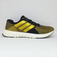 Sepatu Running Import Vietnam Adidas Pria Dewasa Hitam Gold Premium