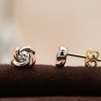 Anting Berlian Bunga - Ivana Jewellery