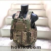 Rompi Body Vest Airsoft WGG Tactical CIRAS MARITIM MOLLE Multicam