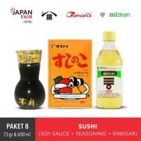 Paket 8 Sushi - Mizkan Su Grain-Higeta Honzen Takujo-Tamanoi Noko