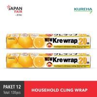 Paket 12 Sealer Makanan Kureha - New krewrap 20 m - Dapat 2