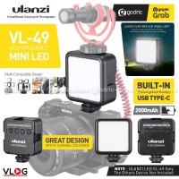 ULANZI VL49 LED Built-In Battery Lampu Studio Video Light HP /2Gen W49
