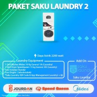 Mesin Laundry Satack Dryer Speedqueen Dan Mesin Cuci Midea 18 kg