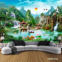 Wallpaper Custom Motif Air Terjun Waterfall