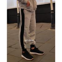 Emoline - Celana Jogger Training List Premium Pria dan Wanita