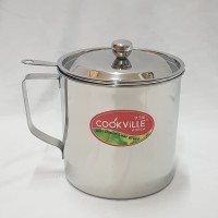 Cookville Oilpot 12 cm / Tempat Minyak plus Saringan Cookville