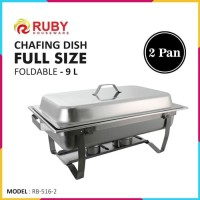RUBY RB-516 Full Sized Foldable Chafing Dish 9L - 2 Pan