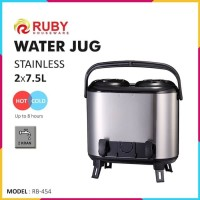 RUBY RB-454 Double Water Jug Color 2x7.5Lt Stainless