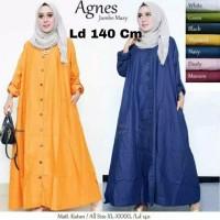 Pakaian Atasan Wanita Muslim Agness Gamis Maxi jumbo Tunik Blouse