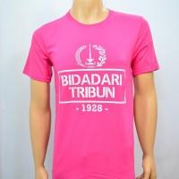 Duli Pakaian Pria Kaos Baju Tshirt Bola Lokal BIDADARI TRIBUN PINK Ter