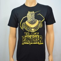 Duli Kaos Baju Pakaian Pria Superhero BLACK PANTHER LIS SPANDEX