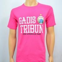 Duli Pakaian Pria Kaos Baju Tshirt Bola Lokal Persija GADIS TRIBUN PIN
