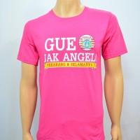Duli Pakaian Pria Kaos Baju Tshirt Bola Lokal GUE JAK ANGEL SELAMANYA