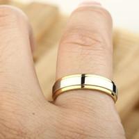 satu buah cincin emas kuning kombinasi termurah