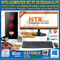 INTEL KOMPUTER SET PC 3D DESAIN ELITE