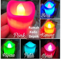 Lilin LED Nyala Kedip Ganti Warna