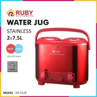 RUBY RB-454R Double Water Jug Color 2x7.5Lt Stainless - Red