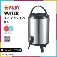 RUBY RB-451 Water Jug Color 9.5Lt Stainless [Panas & Dingin]