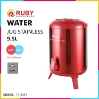 RUBY RB-451R Water Jug Color 9.5Lt Stainless [Panas & Dingin] - Red