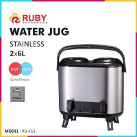 RUBY RB-453 Double Water Jug Color 2x6Lt Stainless