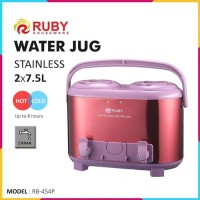 RUBY RB-454P Double Water Jug Color 2x7.5Lt Stainless - Purple