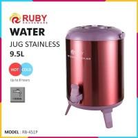 RUBY RB-451P Water Jug Color 9.5Lt Stainless [Panas & Dingin] - Purple