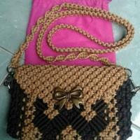 Jual Tas Anyam Tali Kur Motif Hand Made Jakarta Barat Mama Dyast Tokopedia