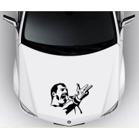 Sticker Decal Mobil Cutting Vinyl Vokalis Queen Freddie Mercury Kode A