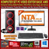 KOMPUTER SET PC VIDEO EDITOR BASIC AMD
