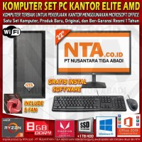 KOMPUTER SET PC KANTOR ELITE AMD