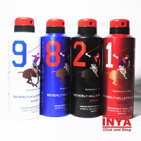 BEVERLY HILLS POLO CLUB SPORT BODY SPRAY COLLECTION 175ml MADE IN UK