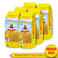 Haverjoy Medium Pack Rolled Oats 1 kg - 6 pcs