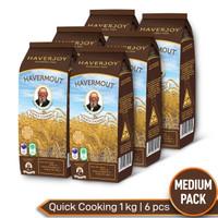 Haverjoy Medium Pack Quick Cooking Oats 1 kg - 6 pcs