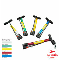 Pompa Sepeda / pompa bola / pompa ban. / Pompa multifungsi 016-04 - Merah