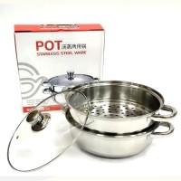 Panci Kukus - Steamer Pot 2 Susun 28 cm