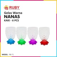 Gelas Kaca Ruby RB-71 Gelas Nanas Kaki - Full Warna