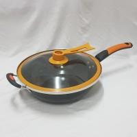Q2 Panci Goreng / Wajan Penggorengan Enamel 32 cm / Wok pan Q2