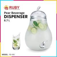 Dispenser Kaca RUBY RB-486 Pear Beverage Dispenser 8.7L