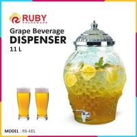 Dispenser Kaca RUBY RB-485 Grape Beverage Dispenser 11L