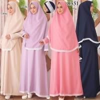 Baju Gamis Syari Syar'i Set Baju Gamis Wanita 8351