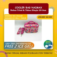COOLERBAG NAIMAX - CANNES MINI PINK / TAS ASI COOLER BAG NAIMAX / Free
