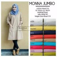 Tunik Jumbo Monna pakaian wanita muslim Zahra Stores kemeja blouse