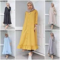 Pakaian Wanita Muslim Long Tunik Velofe Terbaru Gamis blouse dress