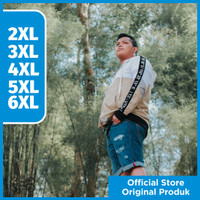 JAKET ZIPPER HOODIE PRIA CREAM JUMBO BIG SIZE BAHAN KATUN PRIA XL-6XL