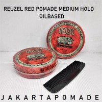 Pomade Reuzel Red Medium Hold Waterbased Original Free Sisir